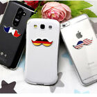 LUMIEL Mustache Couple Jelly Smartphone Case For iPhone, Galaxy