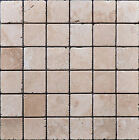 Tumbled Travertine White Marble Mosaic Sheet 305x305 Various Sizes