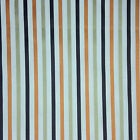 Ashley Wilde Small Striped Fabric 140cm Wide, Terracotta, Curtains, Cushions