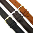 Luxurious Half-Padded Watch Strap Genuine Calf Leather Buffalo Grain 18mm - 22mm