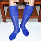 New Fashion 7 Colors Men's Knee High Long TNT Nylon Dress Socks,HD08