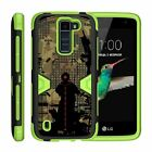 For LG Tribute 5 / Treasure / LG K7 Case Holster Clip Stand Armor Green Cover