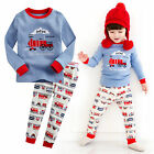 "Vaenait Baby Toddler Kids Boy Clothes Sleepwear Pajama Set ""T.Toot train"" 12M-7T"