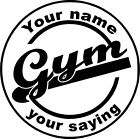 Personalized GYM wall vinyl decal- custom fitness, workout room