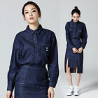 2NEFIT Korea Women's Clothes Long Sleeve Stitching Denim T Shirt SH001 Free Size