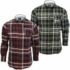 Mens Shirt by Brave Soul 'Tame' Long Sleeved Soft Brushed Check