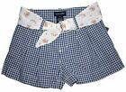 NWT Ralph Lauren Girls Gingham Belted Multi Shorts Size 6X