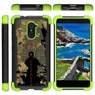 For ZTE Imperial Max / Max Duo / Grand X Max 2 Case Defender Stand Green Bumper