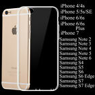 Clear Transparent Crystal Soft TPU Silicone Cover Case Skin for iPhone Samsung
