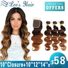 300g Ombre Brazilian Hair Body Wave Human Hair Extensions Virgin Hair Weave Weft