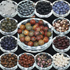 Natural Smooth Gemstone Round Spacer Loose Beads Assorted Stones Gems 4/6/8/10mm