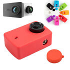 Silicone Case+Lens Cover Rubber Shell for xiaomi yi II 2 4K Action Sport Camera