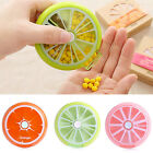 7 Day Portable Rotation Weekly Round Pillbox Dispenser Organisers Tablets Holder