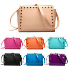Ladies Synthetic PU Patent Leather Studded Shoulder Handbag