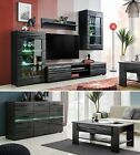 Living Room Furniture Set Modern Cupboard Wall Shelf Stand Gloss TV Unit Cabinet