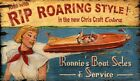 CHRIS CRAFT BOAT SALES ~ Handcrafted Custom Wood Sign w/ Your Name ~ by PLD