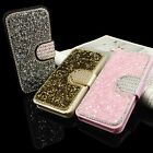 Bling Diamond Leather Stand Phone Case Cover For iPhone 5 6/6s&Plus Samsung S7