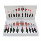 10Pcs Fashion Toothbrush Pro Beauty Shaped Oval Cream Puff Makeup Brushes Set AZ
