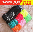 50/100 Girls Babies Soft Cotton Hair Ties Hair bands For Ponytail Mixed Colors