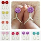 Baby Pearl Barefoot Toddler Foot Flower Beach Sandals Anklet Chain 7 Colors New