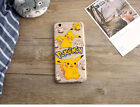 Süß Pokemon Pikachu Transparent Matte Hart Back Case f iPhon 6S 6 Plus Hülle