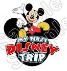 My First Disney Trip MICKEY Family Vacation Iron On T Shirt Fabric Transfer #78