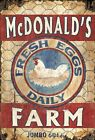 MCDONALDS EGG FARM ~ Handcrafted Custom Made Wood Sign w/ Your Name ~ by PLD