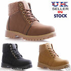 LADIES WOMENS FAUX FUR LINED LACE UP QUILTED WINTER SNOW ANKLE BOOTS SIZE 3-8