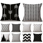 Black & White Super Soft Cushion Cover Home Decor Throw Pillow Case Sweet Fancy