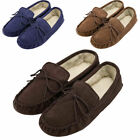 Mens Soft Sole Moccasin Slippers - Brown, Camel - Size UK6 to UK13