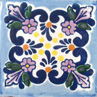 #C008 TILE MEXICAN HAND MADE HAND PAINTED TALAVERA TILES WALL OR FLOOR USE DECOR
