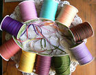 Solid Stitch Centre Ribbon 3mmWide 10 Combo Colours 5Metre length MultiListHall