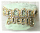 Custom 10k Gold Grillz Open Face 3ct Diamonds Iced Out To...