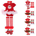 4PCS Baby Girl Halloween Xmas Newborn Romper Tutu Dress Festival Outfits Clothes