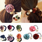 Fashion Women Hair Accessories Rose & Pearl Hair Flower Headwear Hair Band New