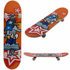 "Professional Adult Skateboard Complete PVC Wheel Trucks Maple Deck 31"" x 8"" Wood"