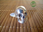Anello Uomo Donna Unisex Teschio Skull Dark Rock color Argento Luminoso Vintage