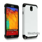 For Samsung Galaxy Note 3 N9000 White Shockproof Armor Heavy Duty Hybrid Case