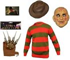 Men's Halloween Freddy Krueger Fancy Dress Horror Costume Adult Outfit Free P&P
