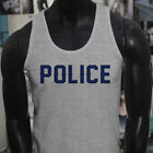LIVES MATTER PROUD US POLICE BLUE Mens Gray Tank Top