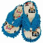Lazy One Spa Slippers Thong Owl Yours Blue Beige Multi Color