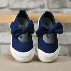 NEW Fashion Baby Toddler's GIRLS Dark blue Bow Sports Casual Canvas Shoes