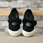 NEW Fashion Baby Toddler's GIRLS Black Bow Sports Casual Canvas Shoes
