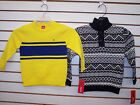 Boys IZOD 39.50 Yellow or Black Pullover Sweaters Size 4 - 7X