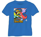 Adventures Of Dino Riki Retro Video Game Blue T Shirt