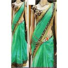 Bollywood Inspired - Party Wear Green Saree - 1024-D