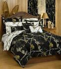 Realtree All Purpose Black & White 5 PC Camo Comforter Set - Twin XL Size