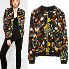FREE GIFT + NEW SEASON VTG FLORAL PRINT CHIC KIMONO BOMBER BLACK COAT JACKET