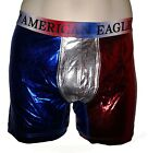 "NWT AMERICAN EAGLE OUTFITTERS MENS 6"" METALLIC USA TRUNK NEW AEO BOXER BRIEFS"