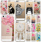 Phone Cases For Iphone 5 5S Se Soft Tpu Clear Luxury Animals Flower Fruits Girls